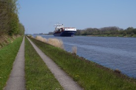 Along the Nort-Ostsea Canal (a.k.a. Kiel Canal)