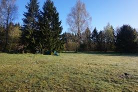 Camping just behind the German camp.